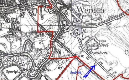 Šilutės miesto plano dalis (1938 metai)